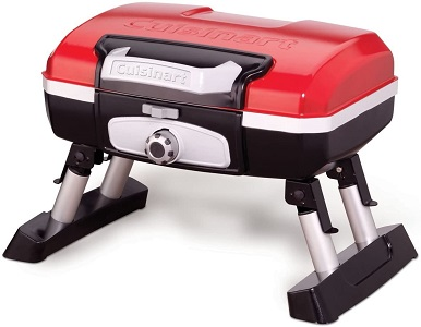 6: Cuisinart CGG-180T Petit Gourmet Portable Tabletop Propane Gas Grill, Red