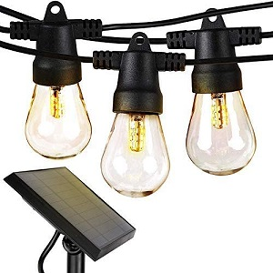 9. Brightech Ambience Pro Solar Powered Waterproof String Lights