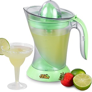 3. Nostalgia Taco Margarita Kit and Electric Lime Juicer, 32-Ounce