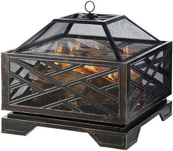 6. Pleasant Hearth Martin Extra Deep Wood Burning Fire Pit