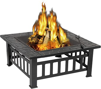 9. ZENY 32 Inches Outdoor Fire Pit