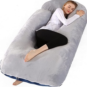3. Chilling Home U Shaped 55 inch Pregnancy Pillows for Sleeping