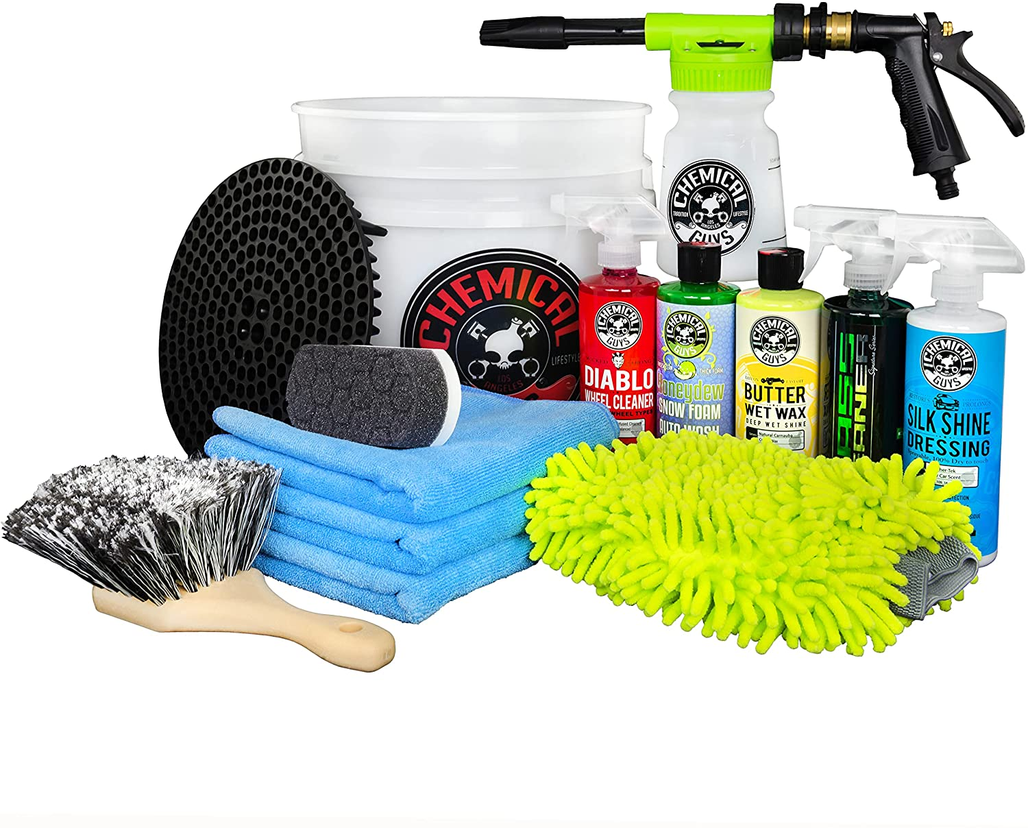 6. Chemical Guys HOL126 16 oz Car Cleaning Chemicals 14-Piece Car Wash Kit