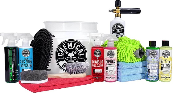 8. Chemical Guys 16-Piece HOL169 Car Wash Kit with Bucket