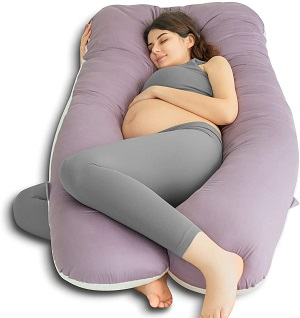 9. QUEEN ROSE U Shaped Cooling Air Flow Back/Neck/Head Pregnancy Pillow