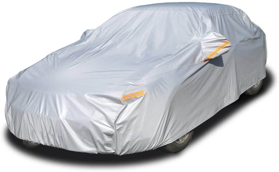 7. Kayme 6 Layers All Weather Waterproof Car Cover