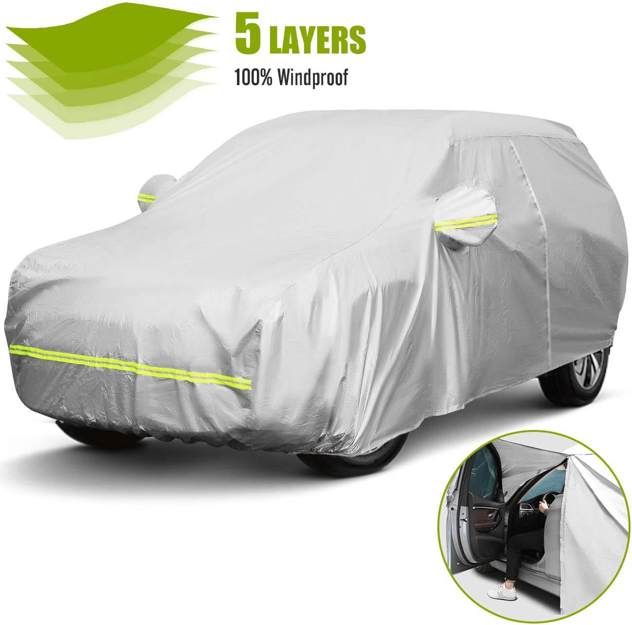 4. Favoto Car Cover Waterproof Windproof SUV Cover