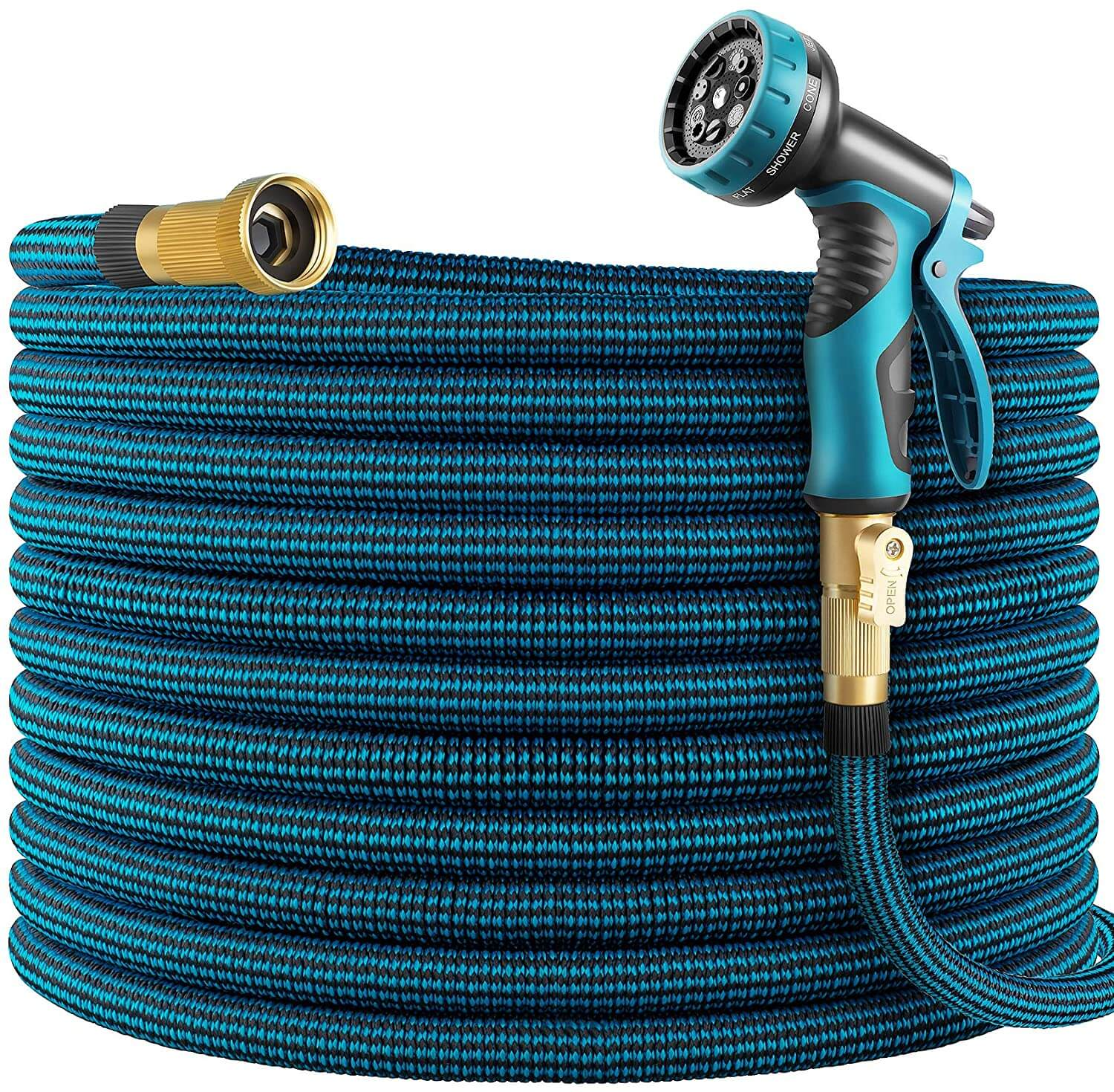 4. WHIMSWIT 100FT Garden Hose Expandable, with Solid Brass Connector